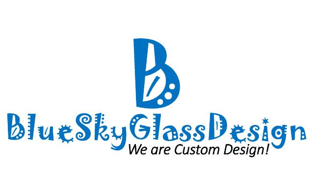 blue sky glass design logo